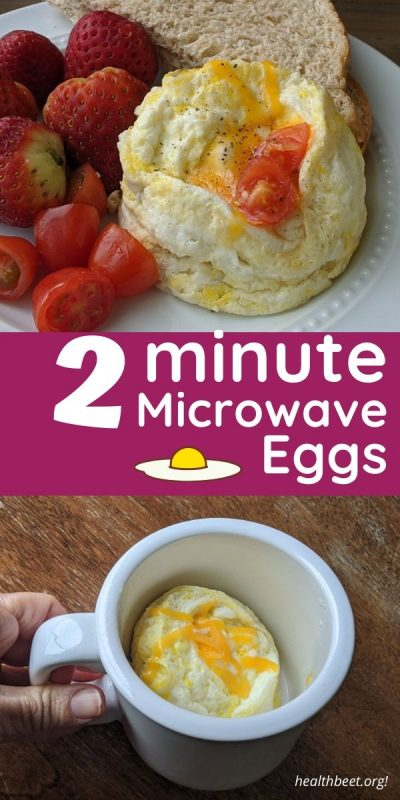 High protein low carb microwave egg breakfast in 2 minutes