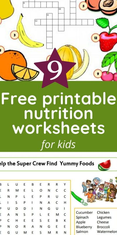 nutrition wordsearch and crossword puzzles