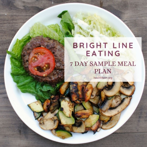 Bright line eating seven day healthy meal plan