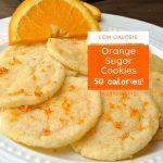 Low Calorie Orange Sugar Cookies