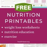 Free nutrition and weight loss printables and worksheets