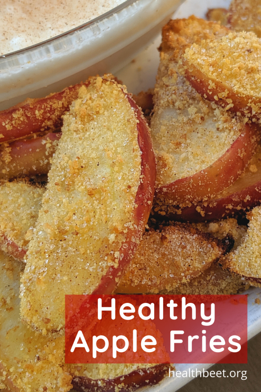 healthy apple fries made in the air fryer