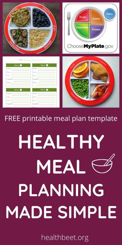healthy meal planning made simple with myplate