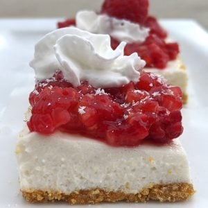 healthy low calorie raspberry cheesecake