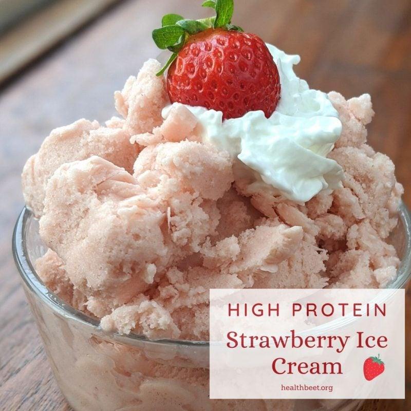 high protein strawberry ice cream