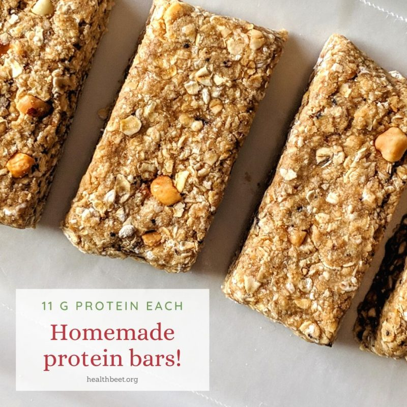 homemade protein bars with four simple ingredients
