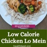 low calorie chicken and broccoli lo mein