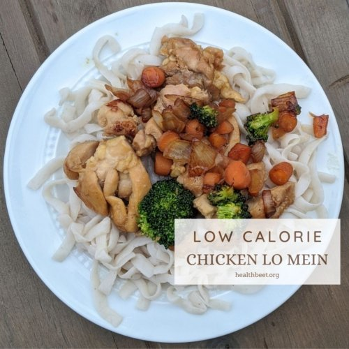 low calorie chicken lo mein thumbnail