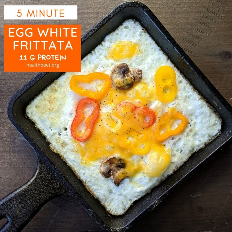 low carb low calorie egg white frittata