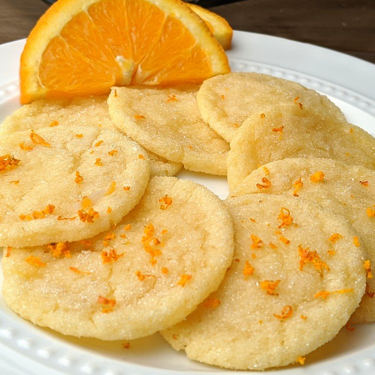stack of orange sugar low cal cookies