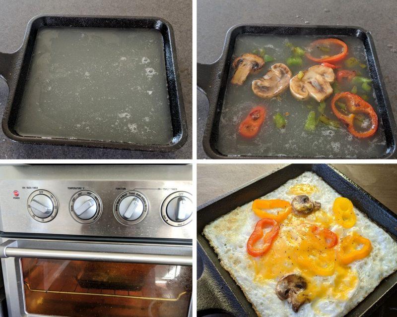 steps to making a quick egg white frittata