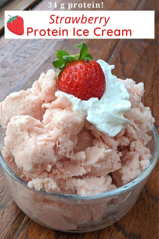 strawberry protein ice cream with high protein