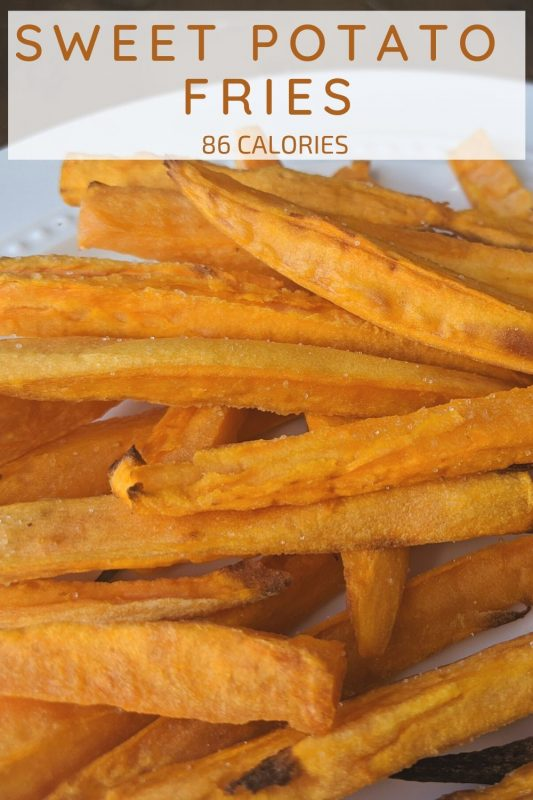 sweet potato fries that are low calorie made in the air fryer in 8 minutes