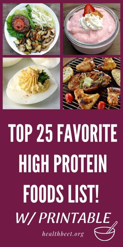 top 25 high protein foods list