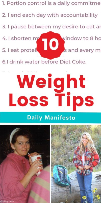 10 weight loss tips daily manifesto