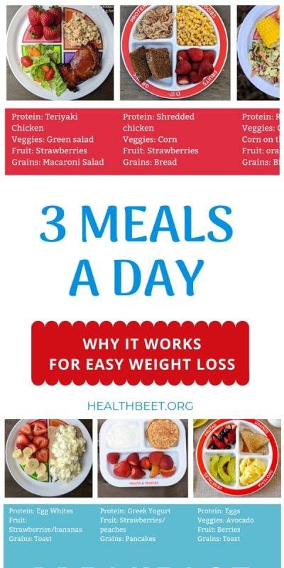 3 Meals a day diet