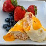 High protein cream cheese chicken enchiladas