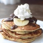Healthy Banana Chocolate Chip Pancakes in Less than 15 Minutes