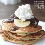chocolate banana protein pancakes with calories