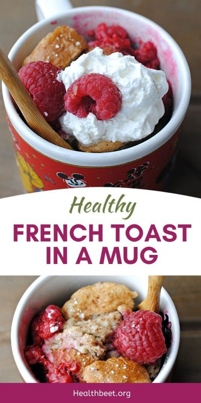 healthy french toast in the microwave