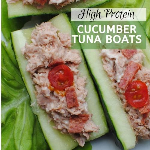 high protein cucumber tuna boats