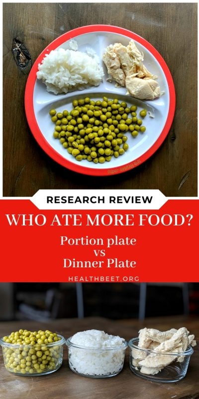 research review who ate more food- portion plate vs dinner plate