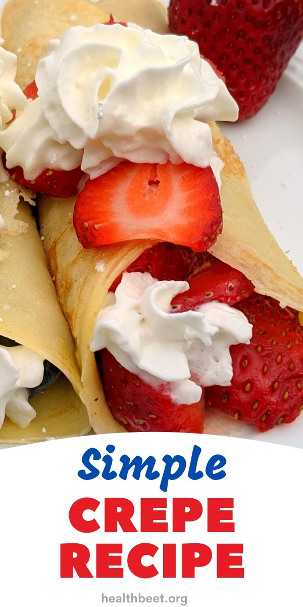 crepes with strawberries and whipped cream