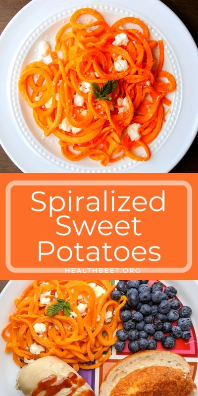 spiralized sweet potato recipe