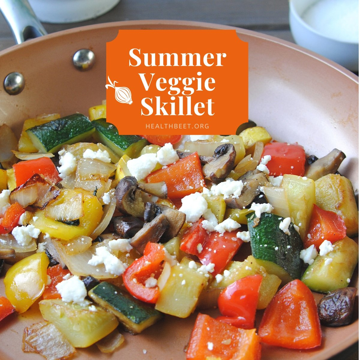 summer vegetables in a skillet - low calorie ideas