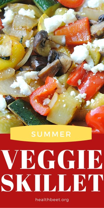 summer vegetables sauteed in a skillet