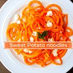 Roasted Sweet Potato Noodles with Feta Cheese Recipe