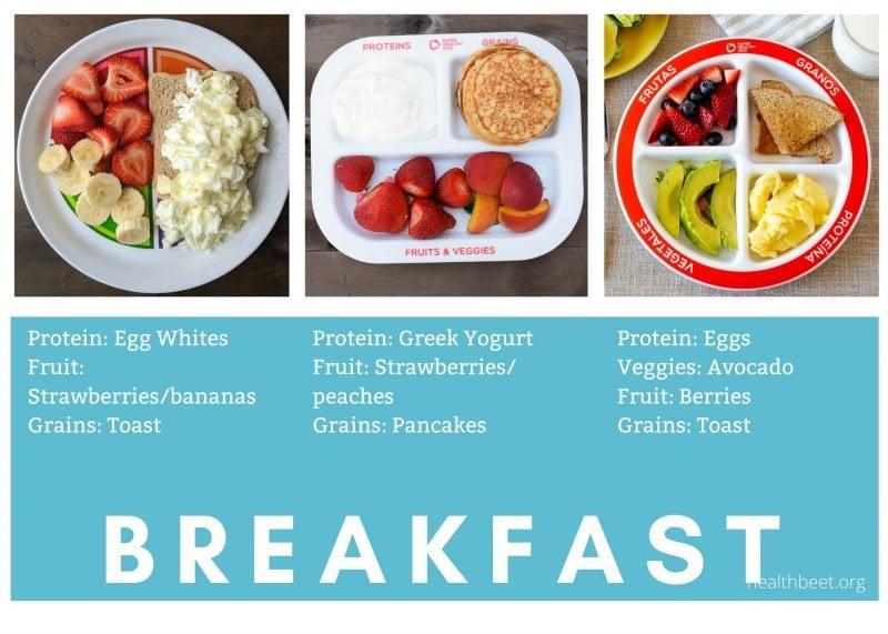 Healthy balanced breakfasts