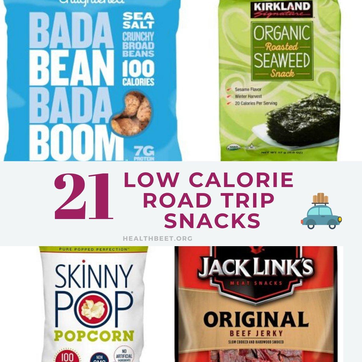 21 low calorie road trip snacks