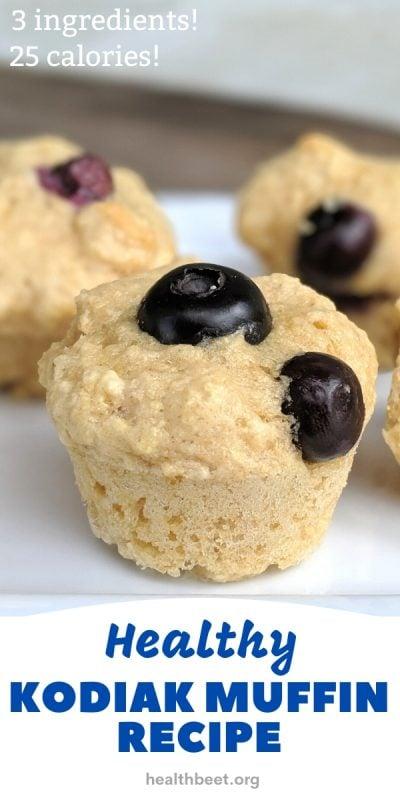 3 ingredient healthy kodiak blueberry muffin recipe