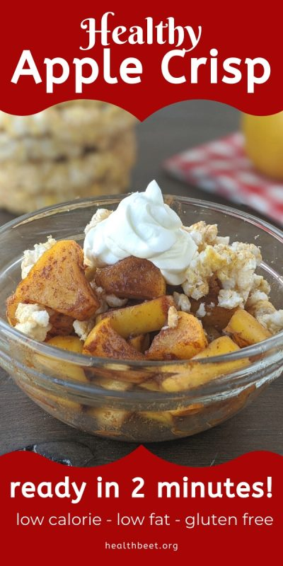 Healthy 100 calorie apple crisp