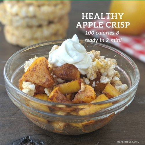 Healthy apple crisp and ready in 2 minutes