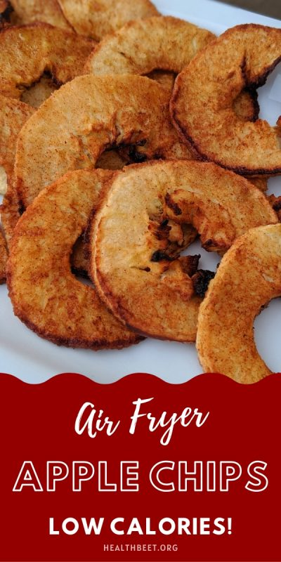 Tasty and healthy apple chips