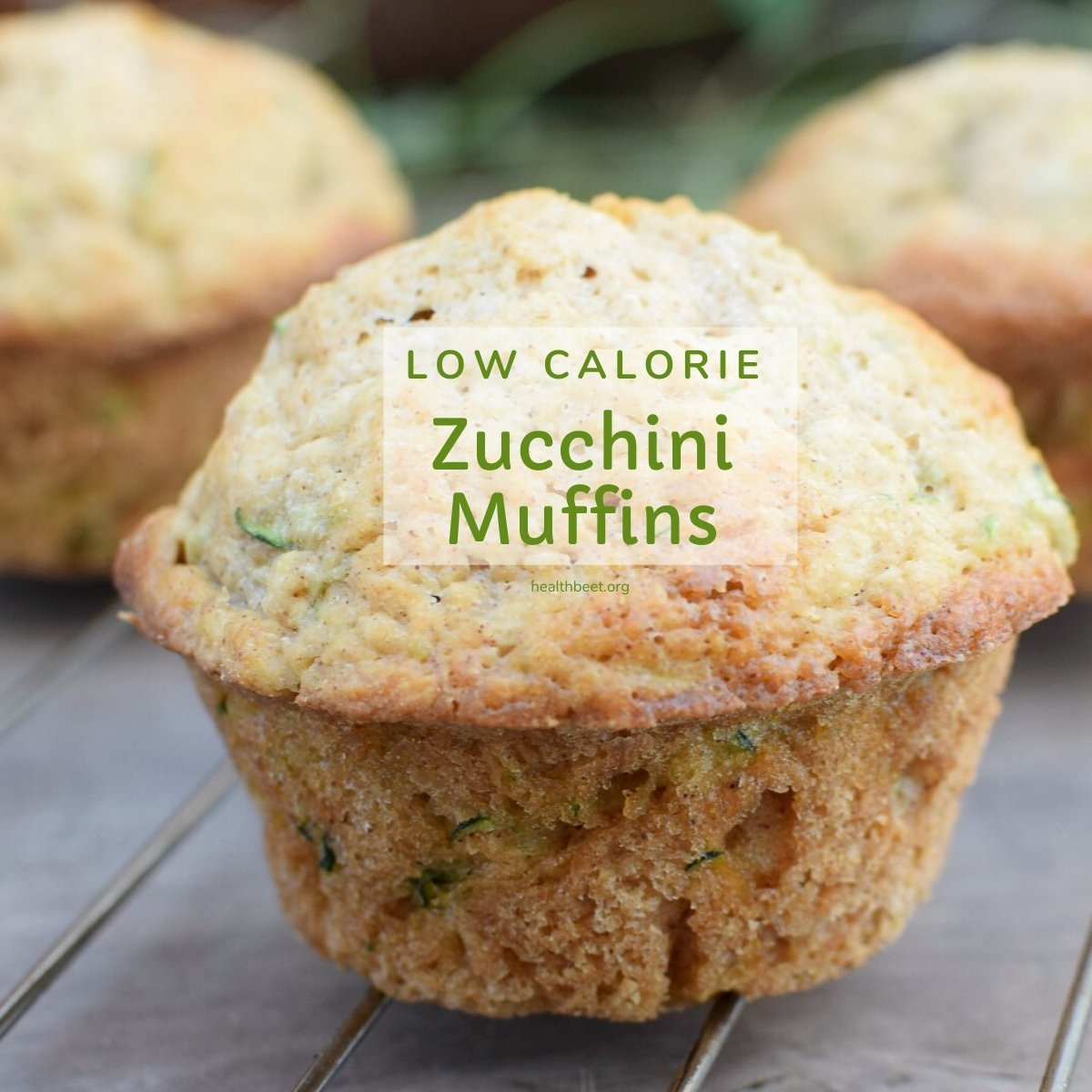 healthy and delicious low calorie zucchini muffins