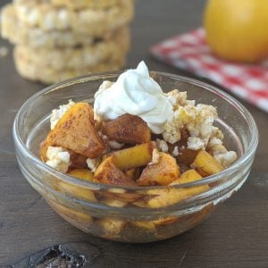 healthy baked apple crisp 2