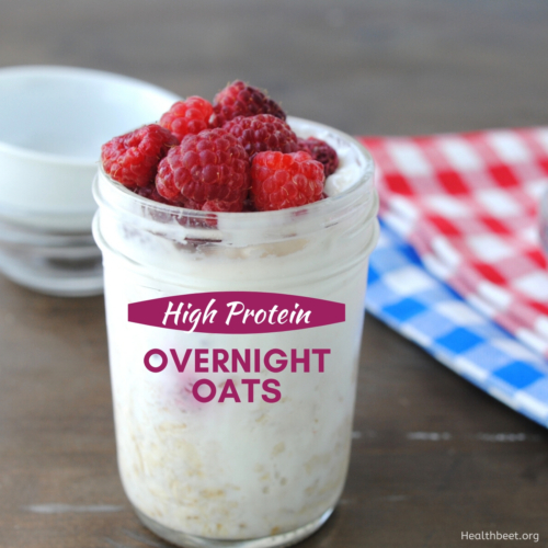 high protein low calorie overnight oats featured image