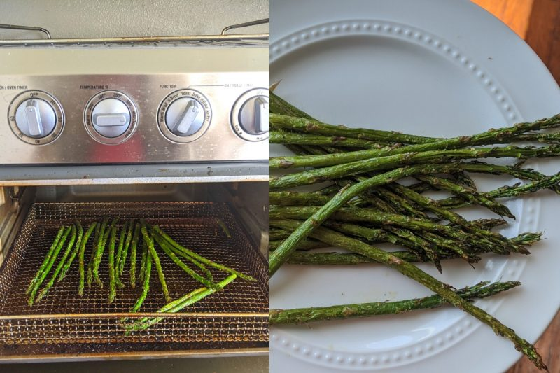 roasting asparagus for low calorie free food eating