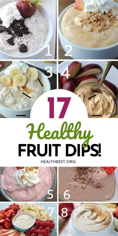 17 Healthy and delicious fruit dips