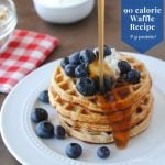 90 calorie waffle recipe with 9 grams of protein