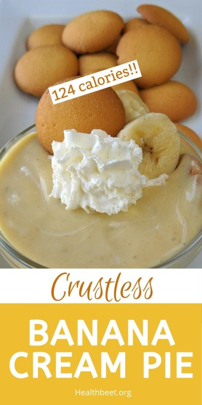 Healthy Crustless banana cream pie