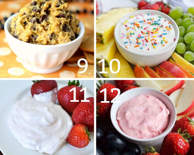 Healthy fruit dips 9-12