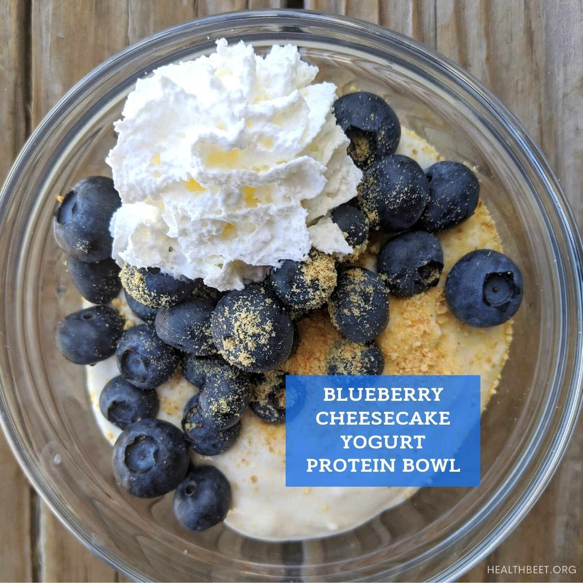 blueberry cheesecake protein yogurt bowl