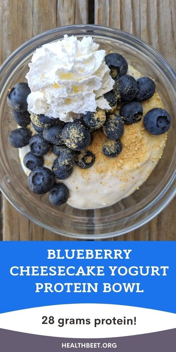 blueberry yogurt cheesecake protein bowl