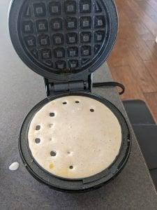 cooking on the dash mini waffle iron