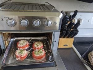 cooking tomatoes in my toaster oven
