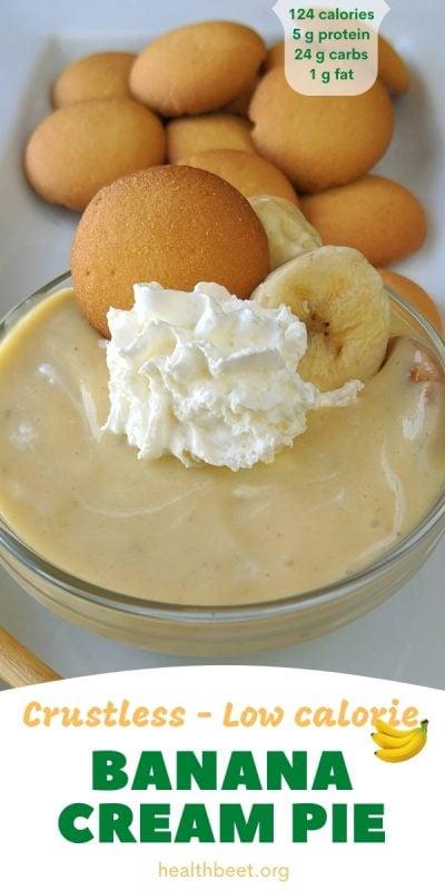 crustless low calorie banana cream pie